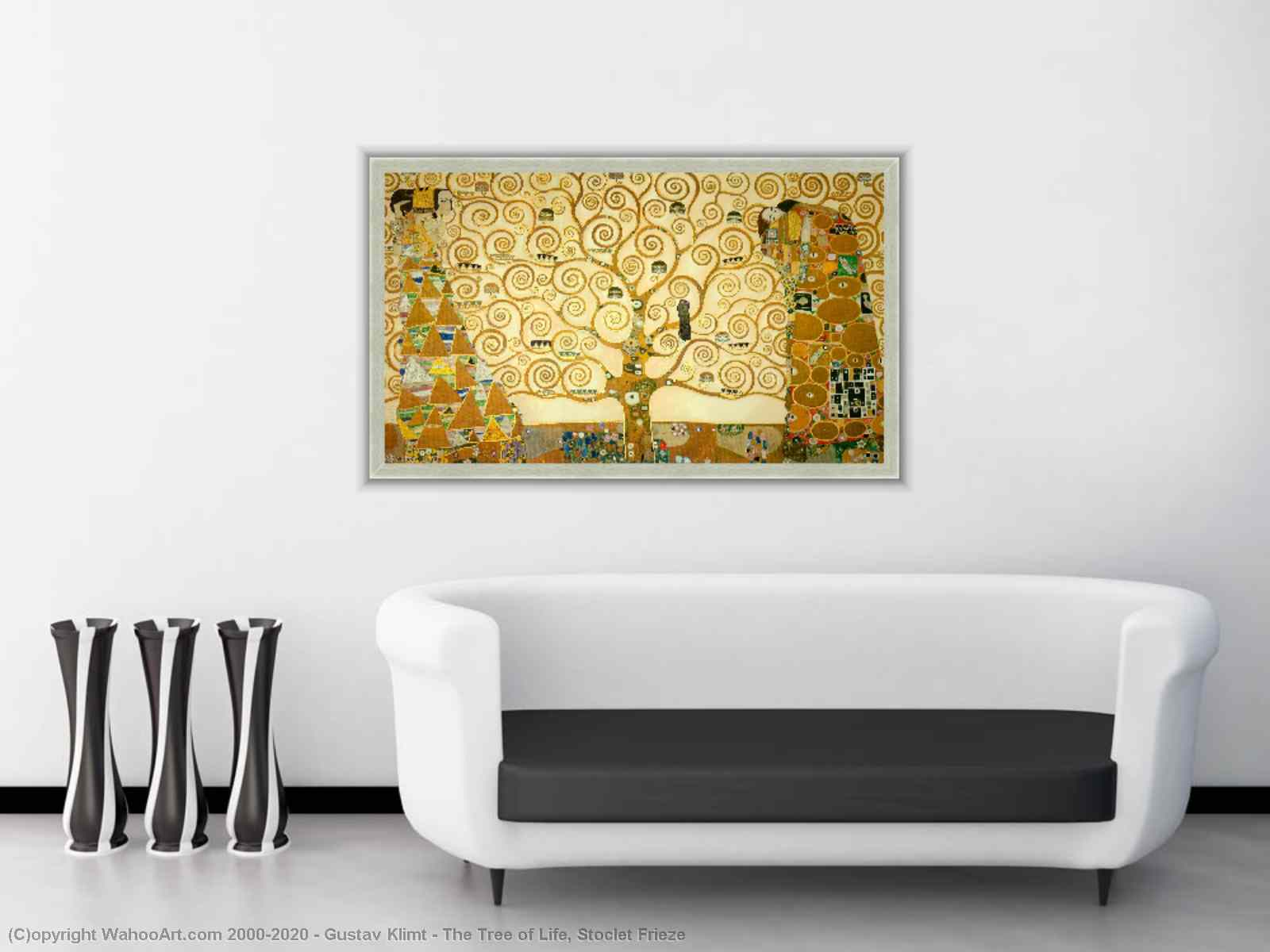 The Tree of Life, Stoclet Frieze by Gustav Klimt
